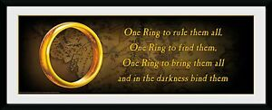 Lord of the Rings One Ring Ready Framed Print