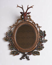 Wall Mirror Antique Mirror Hut Style Deco Mirror Kaminspiegel Stag Deer's Head