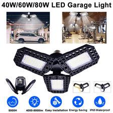 E26/E27 LED Garage Light Bulb Deformable Ceiling Fixture Lights Workshop Lamp