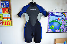 RARE Sola ladies wetsuit + Lara Croft Tomb Raider promo tattoo ~ COSPLAY ~ L