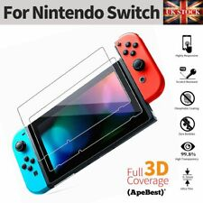 For Nintendo Switch Screen Protector Tempered Glass Kit Film Cover Anti-scratch