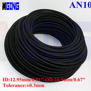 AN10 -10AN Teflon Braided Stainless Steel PTFE E85 Ethanol Oil Line Fuel Hose 3M