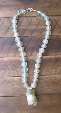 Ancient Roman Glass Beads Necklace with Large Pendant