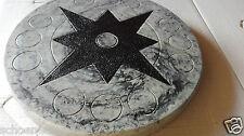 TRITTSTEINE TRITTSTEIN Libelle grau marmoriert Trittplatte Deko Stein Garten