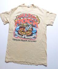 VINTAGE Monsters of Rock 1980  t shirt MENS M DEF LEPPARD BOB SEGER EDDIE MONEY