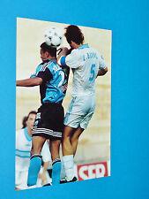 LAURENT BLANC LE HAVRE PHOTO PANINI FOOTBALL 1997-1998 OLYMPIQUE MARSEILLE OM