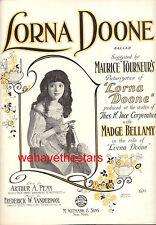"LORNA DOONE Sheet Music ""Lorna Doone"" Madge Bellamy Maurice Tourneur 1922"