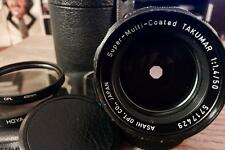 Asahi Pentax Super Takumar 50mm F/1.4 Rare Prime Lens M42 Mount w/filters&pouch