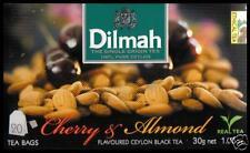 Dilmah Tee-Cherry & Almond flavoured black Ceylon Tea 20 bustina del tè