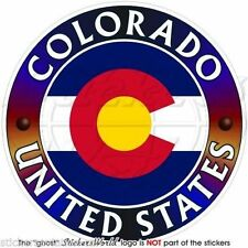"COLORADO State USA, Coloradan America US Vinyl Bumper, Decal-Sticker 4"" (100mm)"
