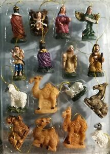 16 pieces Nativity Scene Set Micro Miniature Christmas Fairy Garden  NEW VINTAGE