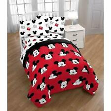 Disney Mickey Mouse Cute Faces Reversible 5Pc Twin Bedding Set *New*