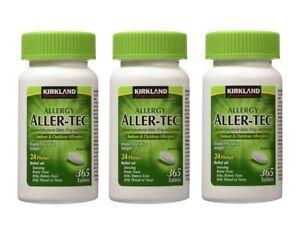 Kirkland Allergy Aller-Tec 10mg 365 Tablets x 3