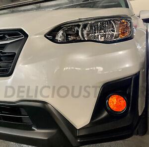 For 2018-2021 Subaru Crosstrek XV AMBER Fog light Overlay Tint Precut Vinyl