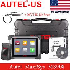 US Autel MaxiSYS MS908 Automotive Diagnostic Scanner ECU coding+MV108 MaxiVideo