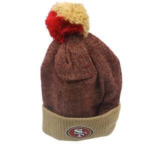 San Francisco 49ers NFL Youth Boys One Size Fits Most Cuffed Pom Knit Beanie New