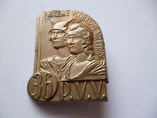 UNKNOWN BRASS CZECH PIN BACK BADGE