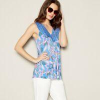 WOMENS LADIES Mantaray - Purple Crochet Trim Vest Top - Sizes S, M, L, XL - NEW