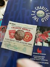 More details for arsenal v man utd 1993 charity shield programme and ticket