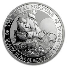 1 Oz Silbermünze Black Flag THE ROYAL FORTUNE Tuvalu 2020