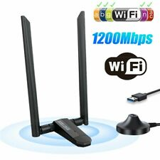 1200M WiFi Receiver Wireless Network Card Dual Frequency Signal Booster Antenna