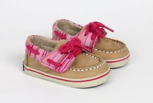 Sperry Top-Sider Pink Stripes Boat Shoes Infant Baby Girl Size 2