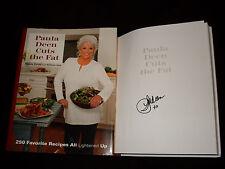 Paula Deen signed Paula Deen Cuts the Fat 1st print hardcover book 250 recipes