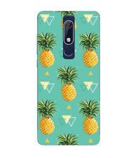 Coque Nokia 5.1 2018 Ananas geometrique tropical fruit Exotique