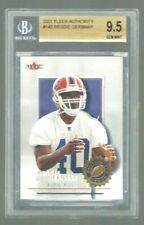 2001 FLEER AUTHORITY FB #145  REGGIE GERMANY  RC  BGS 9.5  GEM MINT  1098/1350