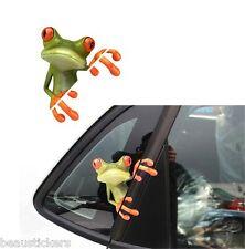 2 stickers autocollants pour vitre auto grenouille marrante réf 13201