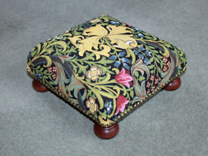 William Morris Golden Lily Tapestry Footstool - Made in England