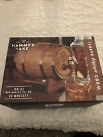 Hammer &  Axe Wood Whiskey Barrel 800ml/27oz Brand New in Box - FAST SHIPPING!