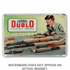 RETRO HORNBY DUBLO CATALOGUE 53/54 COVER -  JUMBO FRIDGE /LOCKER MAGNET