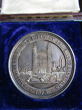 SILVER 1873 Medal CAMBRIDGE WORKING MENS CLUB Arts & Industry Expedition Boxed