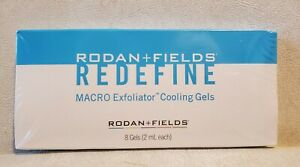 Rodan + Fields Redefine Macro Exfoliator cooling gels - New Sealed- 8 Gels Pack