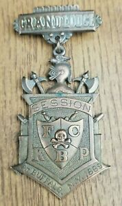 Antique Knights Of Pythias Pin Badge 1889 Buffalo NY Skull & Crossbones, Penfold