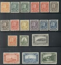 CANADA #162-77 Complete set incl. 165a, 166b, og, NH, VF, Scott $1,042.75