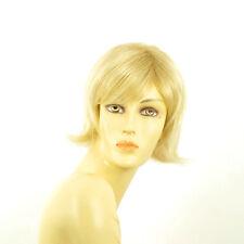 Perruque femme courte blond doré méché blond très clair  CAPUCINE 24BT613