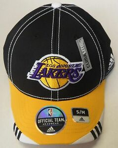 NBA Los Angeles Lakers Adidas Curve Brim Cap Hat NEW!