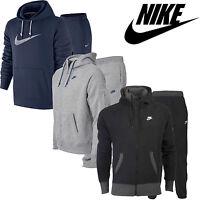 Nike Mens Fleece FULL Tracksuit Zip Up Hoody Joggers Jogging Pants Bottoms S-XL