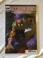 ANNIHILATION SCOURGE ALPHA #1 ARIEL OLIVETTI TRADE VARIANT COVER NM IN MYLAR 🔥