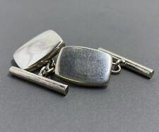 Vintage modernist sterling silver cuff links 6.3g  (#50)