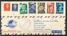 KINDERSERIE 1951 op 1e VLUCHT AMSTERDAM-SYDNEY 7.DECEMBER.1951   Bn266