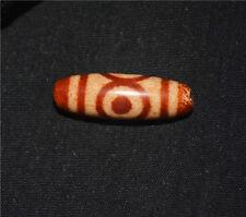 necklace three eyed tibetan dzi bead tibet antique amulet 3 eyes agate genuine