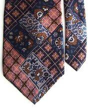 """Adolfo Men's Silk Floral Neck Tie Blue 4"""" x 57"""""""