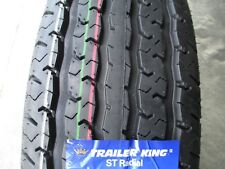 4 New ST 205/75R15 Trailer King II Radial Tires D 8 Ply 2057515 75 15 75R R15