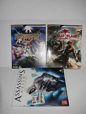 Assassins Creed, Dead Island , Phantasy Star Universe Game Guide Lot of 3