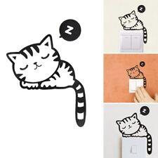 Funny Cute Sleeping Cat Wall Switch Sticker