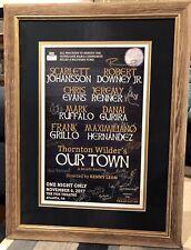Our Town Atlanta VIP Signed Poster Avengers Chris Evans Scarlett Johansson