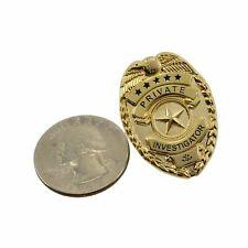 """Private Investigator Detective Mini Badge Lapel Pin 1"""" Novelty Pi Investigations"""